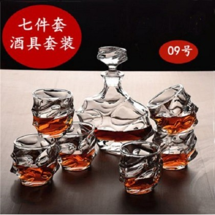 Whisky set 7pcs 009 (glass+decanter)