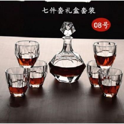 Whisky set 7pcs 008 (glass+decanter)