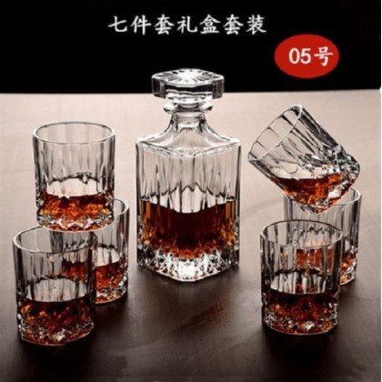 Whisky set 7pcs 005 (glass+decanter)