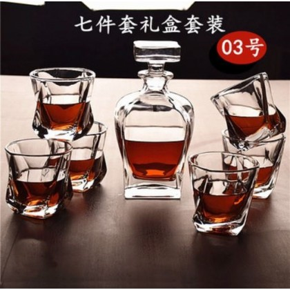 Whisky set 7pcs 003 (glass+decanter)
