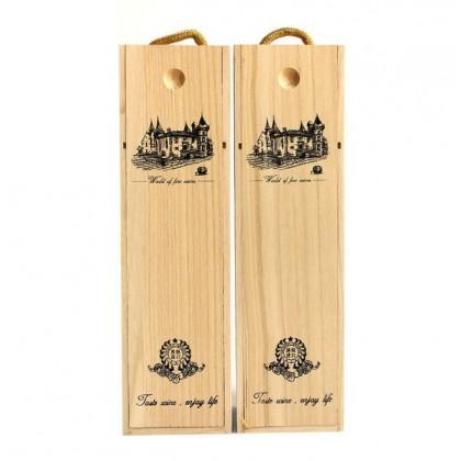 Handcarry Wooden Wine Box Single Bottle