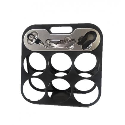 Wine Rack 6 Hole with Opener set (Plastic)