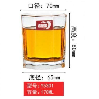 Premium Tempered Glass 190 ml ( Y 5301 Octagon )