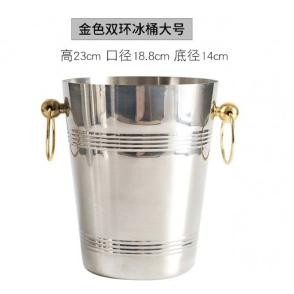 Luxury Ice Bucket With Gold Ring ( Large )