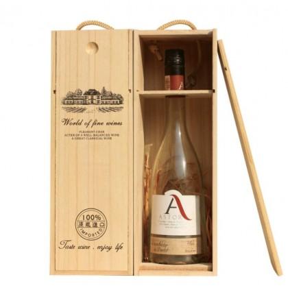 Handcarry Wooden Wine Box (Single-L)