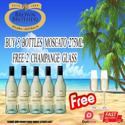 5 Bottles Free 2 Champage Glass