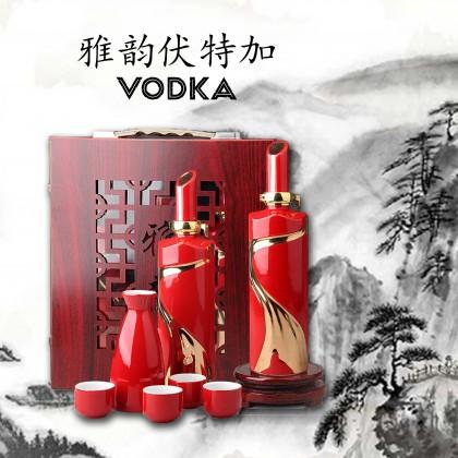 Spirit Vodka Set - 2 Bottle - 1 cup + 4 glass