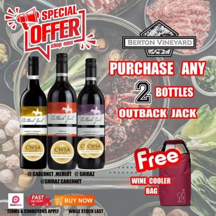 Outback Jack ( 2 Bottle + 1 Wine Cooler Bag)