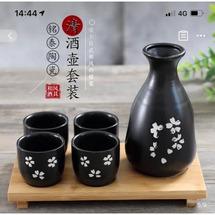 Tokuri Glass Set -black blossom